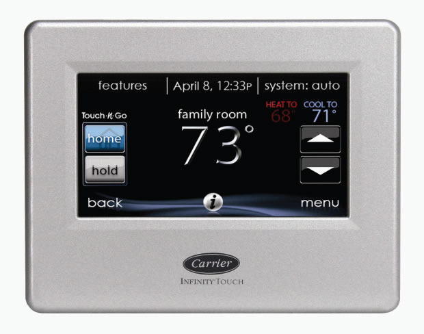 Carrier Inifinty Touch User Interface